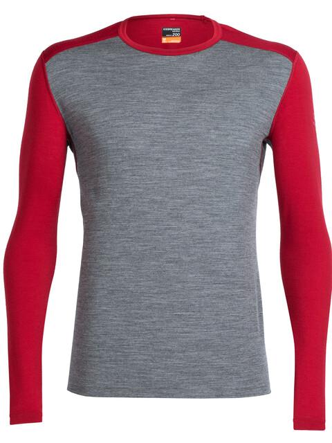 Icebreaker Oasis Ondergoed bovenlijf Heren grijs/rood